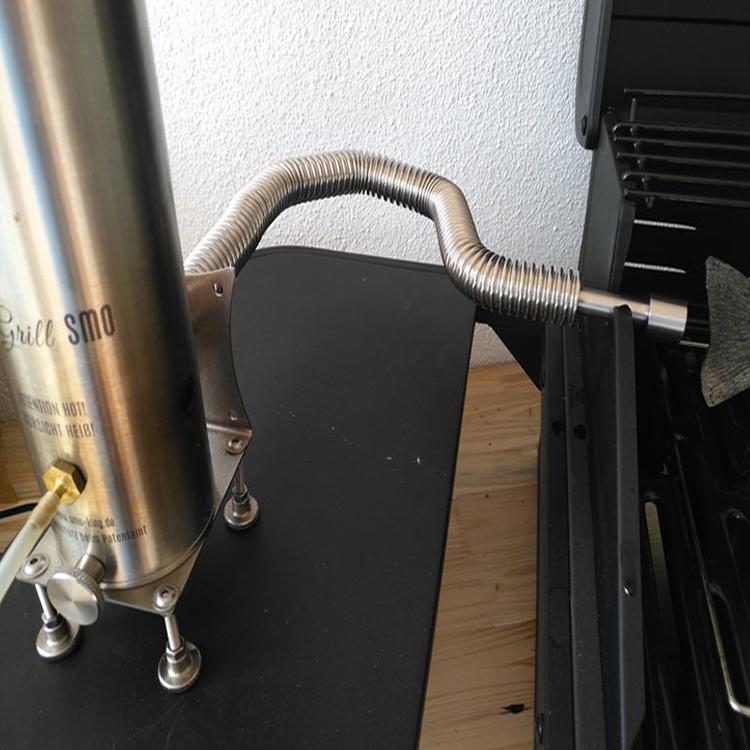 Edelstahlflexrohr 2,3 Liter Big-Old-Smo 0,5 Meter